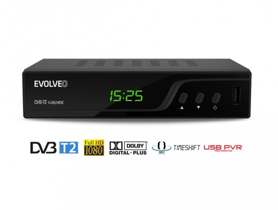 EVOLVEO Omega T2, HD DVB-T2 H.265/HEVC multimediální rekordér
