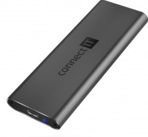 Externí box pro SSD disk Connect IT AluSafe CEE-7050-AN, USB-C