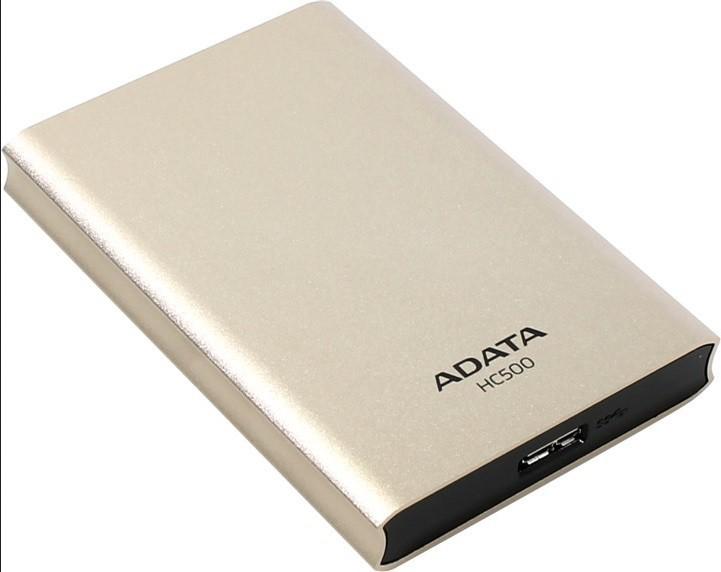 """Externí disk ADATA Externí HDD 500GB 2,5"""" USB 3.0 HC500, zlatá"""