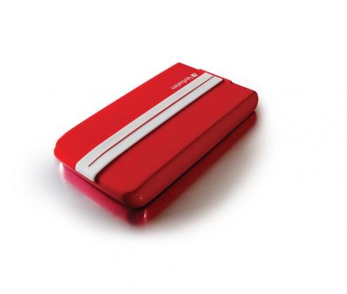 """Externí disk VERBATIM HDD 2.5"""" 500GB GT SUPERSPEED USB 3.0 červená/bílá"""