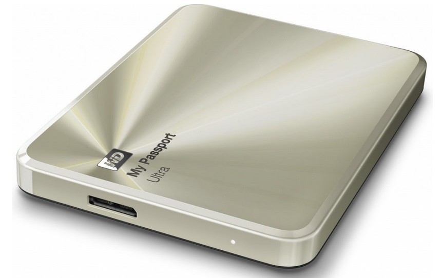 "Externí disk WD My Passport ULTRA METAL 1TB Ext. 2.5"" USB3.0, Gold"