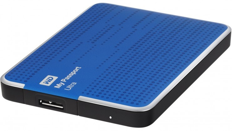 Externí disk Western Digital My Passport ULTRA 500GB modrá (WDBPGC5000ABL)