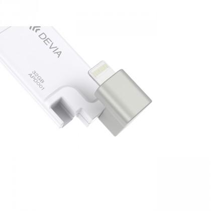 EXTERNÍ PAMĚT DEVIA 32GB MFI LIGHTING & USB2.0 - BÍLÁ