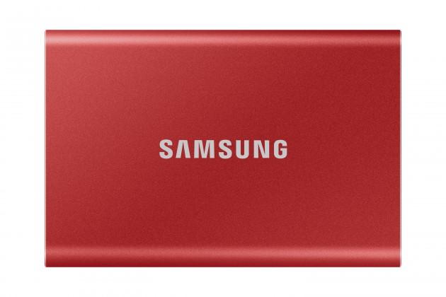 Externí SSD disk Samsung - 500 GB - červený