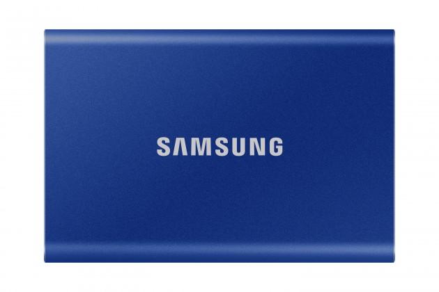 Externí SSD disk Samsung - 500 GB - modrý