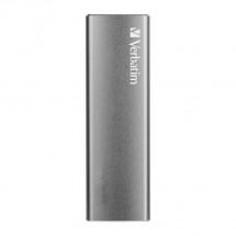 Externí SSD disk Verbatim Vx500, 480 GB, 29g, stříbrná