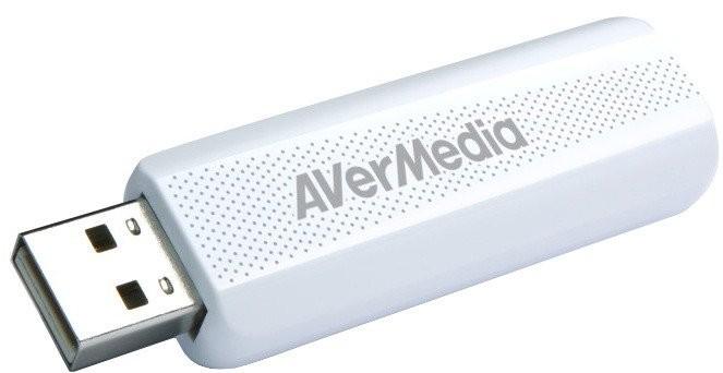 Externí USB tuner AVerMedia TV TD310, DVB-T/T2/C/HEVC POUŽITÉ, NE