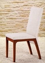 Fabrizio - Jídelní židle (třešeň/eko kůže krémová) - II. jakost