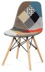 Factory - Jídelní židle CT-724 (patchwork/masiv buk)