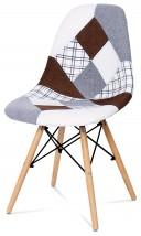 Factory - Jídelní židle CT-725 (patchwork/masiv buk)