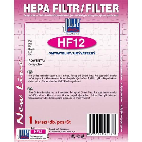Filtry HEPA filtr Rowenta HF12 Compacteo