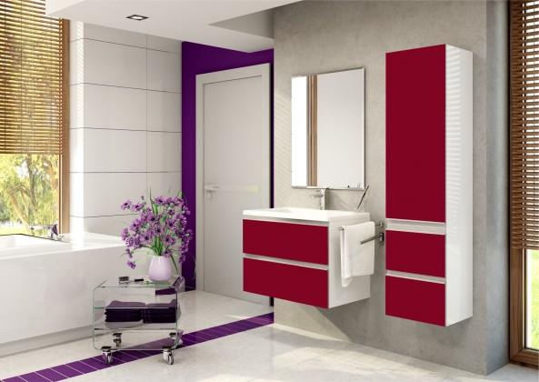 Firenze - Koupelnová sestava (burdeos,boky bílé)