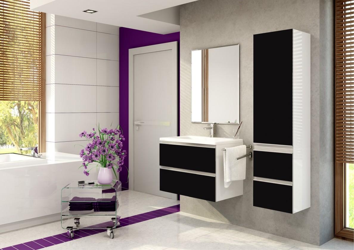 Firenze - Koupelnová sestava (černá,boky bílé)