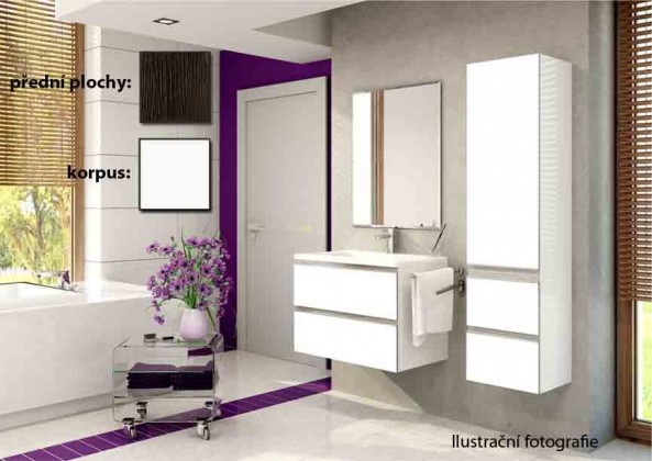 Firenze - Koupelnová sestava (malibu tobaco,boky bílé)