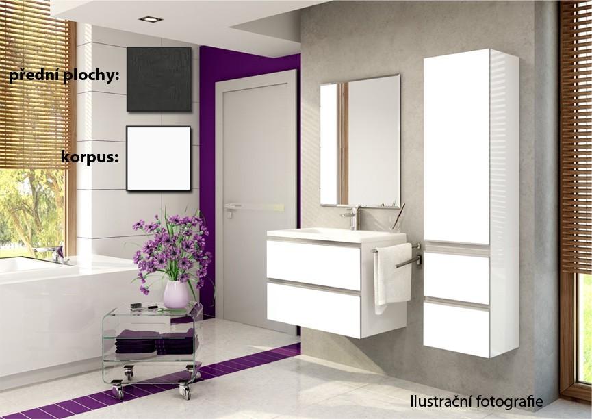 Firenze - Koupelnová sestava (melange tm.,boky bílé)