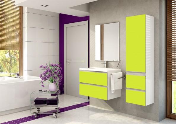 Firenze - Koupelnová sestava (pistáciová,boky bílé)