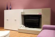 Fizzy 05 - Obývací stěna (Bianco/Titanio) - II. jakost