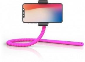 Flexibilní selfie tyč Zbam GEKKOSTICK, multifunkční, růžová