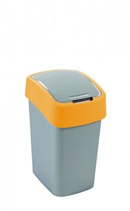 FLIPBIN, 10l (plast,šedo-zelený)