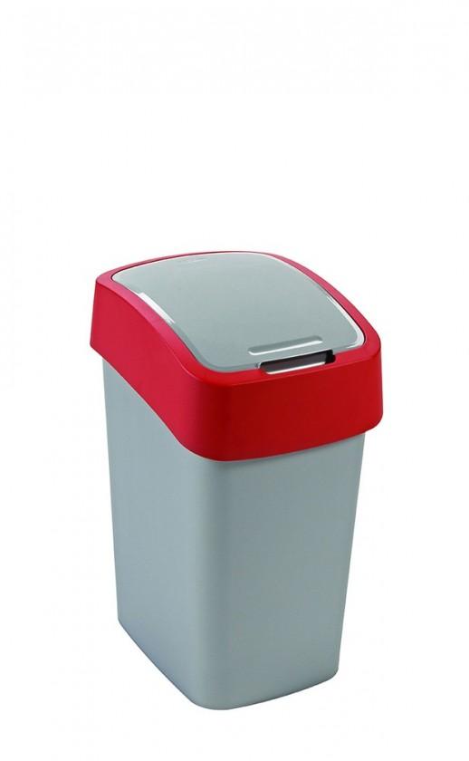 FLIPBIN, 50l (plast,šedo-červený)