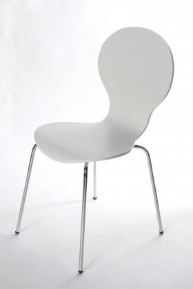 Flower - Jídelní židle (bílá)