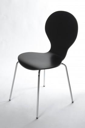 Flower - Jídelní židle (černá)