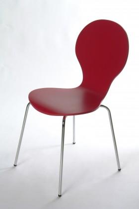 Flower - Jídelní židle (červená)