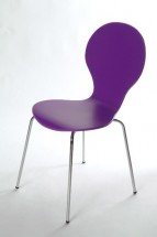 Flower - Jídelní židle (fialová)