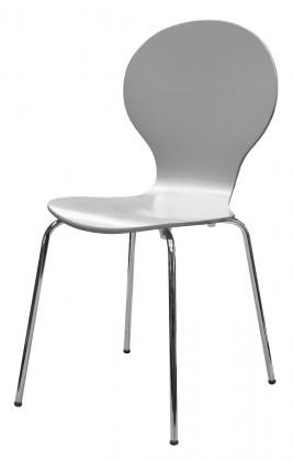 Flower - Jídelní židle (šedá)
