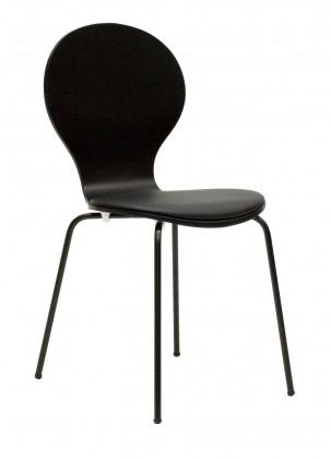 Flower - Jídelní židle, sedák (černá, eko kůže)