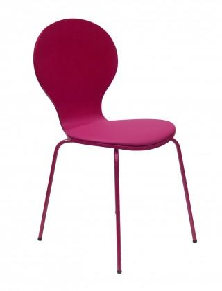 Flower - Jídelní židle, sedák (fuchsiová, eko kůže)