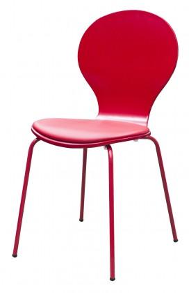 Flower - Jídelní židle, sedák (tulip, eko kůže)
