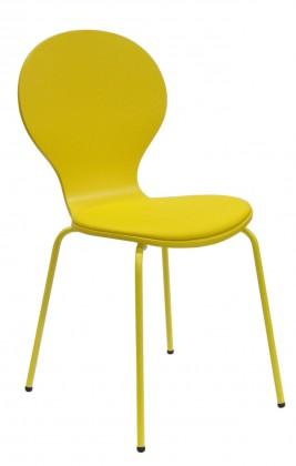 Flower - Jídelní židle, sedák (žlutá, eko kůže)