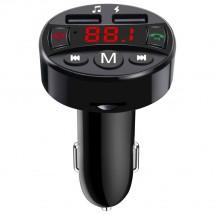 FM transmiter s BT. Podpora USB a SD karet,5V/2,1A. Vstup 12-24V