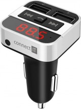 FM Transmitter CONNECT IT InCarz CCC-8800-SL, bluetooth, stříbrný