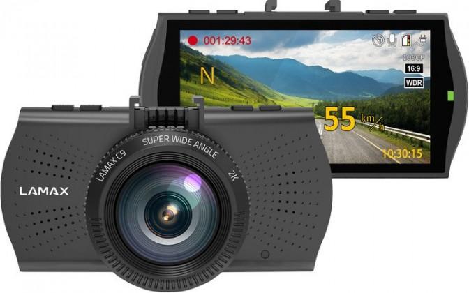 Foto, kamery ZLEVNĚN Autokamera Lamax C9, 2K, záběr 150°, GPS, WDR, LDWS POUŽITÉ, NEOP
