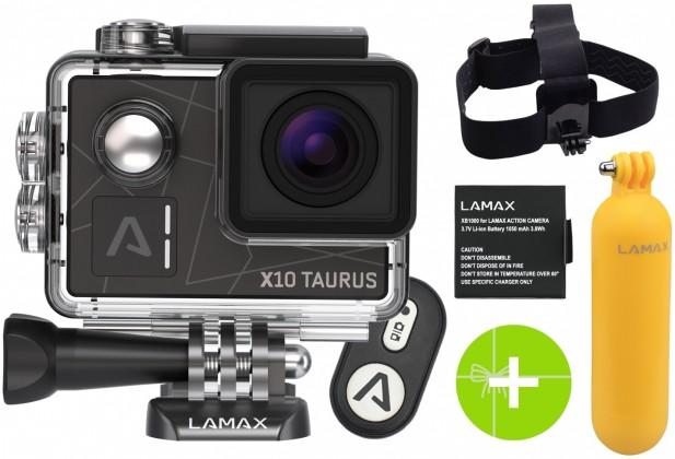 Foto, kamery ZLEVNĚNO Akční kamera Lamax X10 Taurus, ZÁNOVNÍ