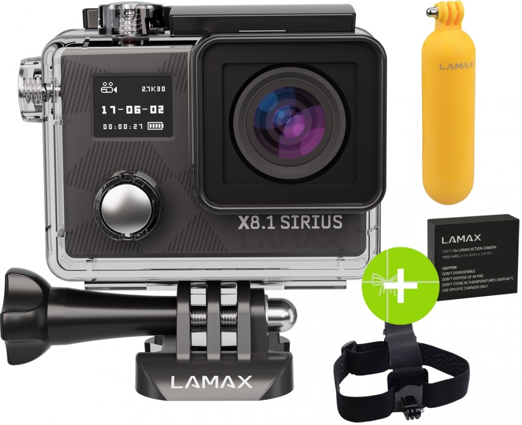Foto, kamery ZLEVNĚNO LAMAX X8.1 Sirius ROZBALENO