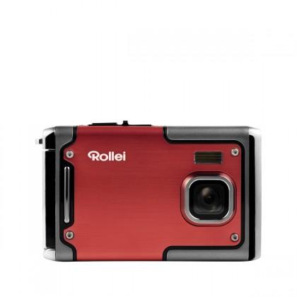 Foto, kamery ZLEVNĚNO Rollei Sportsline 85 outdoor sportovní kamera, červená ROZBALENO