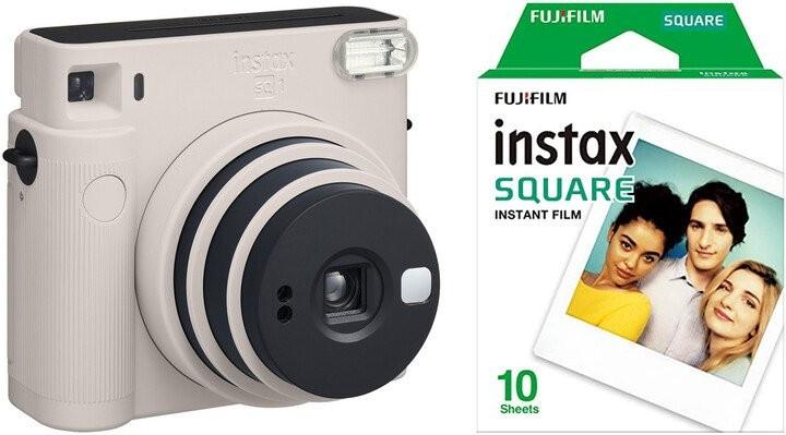 Fotoaparát Fujifilm Instax Square SQ1, bílá + fotopapír 10ks