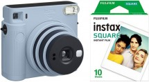 Fotoaparát Fujifilm Instax Square SQ1, modrá + fotopapír 10ks
