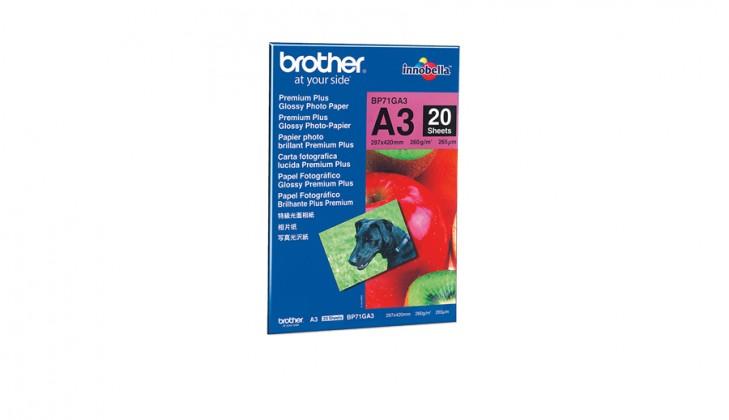 Fotopapír Brother BP71GA3 fotopapír A3, 20 listů