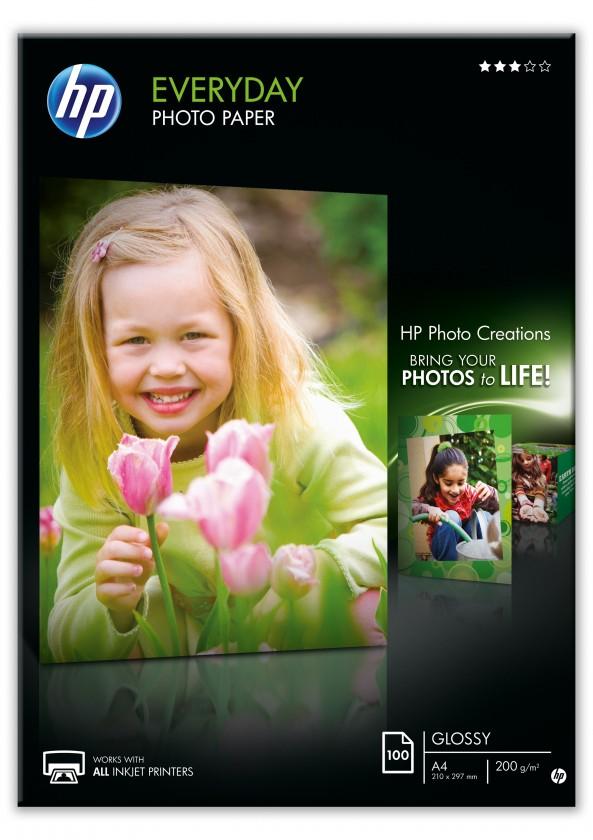 Fotopapír Fotopapír HP Everyday Glossy, A4, 100ks