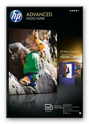 Fotopapír HP Advanced Glossy Photo Paper-100 sht/10 x 15 cm borderless,  25