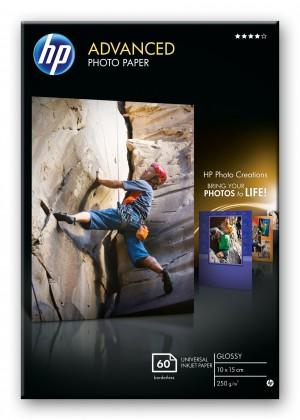 Fotopapír HP Advanced Glossy Photo Paper-60 sht/10 x 15 cm borderless, 250