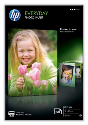 Fotopapír HP Everyday Glossy Photo Paper-100 sht/10 x 15 cm, 200 g/m2, CR75