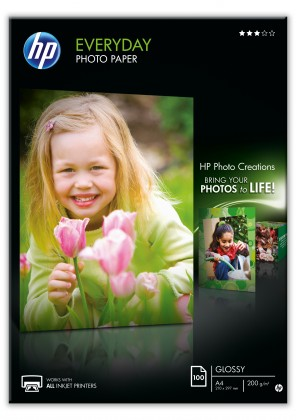 Fotopapír HP Everyday Glossy Photo Paper-100 sht/A4/210 x 297 mm, 200 g/m2,