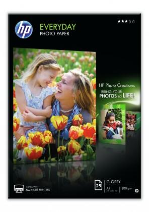 Fotopapír HP Everyday Glossy Photo Paper-25 sht/A4/210 x 297 mm, 200 g/m2,