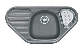 Franke - dřez Fragranit COG 651 E, 960x500 (šedý kámen)