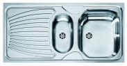 """Franke - dřez nerez ONN 651 6/4"""", 1000x500 mm  (stříbrná)"""